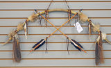 Handcrafted Short Bow & Arrows by Native American Artist