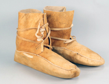 Leather High Top Moccasins, Sz. 9