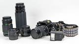 Sears (Ricoh) KS-2 35mm Film Camera w/ Lenses, Ca. 1980's