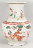 Chinese Wucai Porcelain Hu Vase