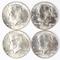 4 1964-D Kennedy Half Dollars