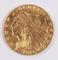 1926 Gold Indian Head  2 1/2 Dollar Quarter Eagle