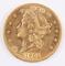 1901 $20 Gold Liberty Head Double Eagle Coin