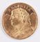 1935 Helvetia Swiss 20 Franc Gold Coin