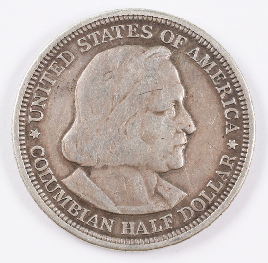 1892 Columbian Exposition Silver Half Dollar