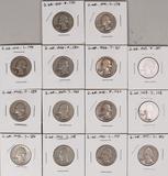 14 Washington Silver Quarters