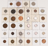 34 Foreign Coins, various countries