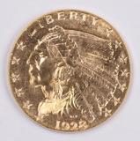 1928 Gold Indian Head  2 1/2 Dollar Quarter Eagle