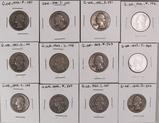 12 Washington Silver Quarters