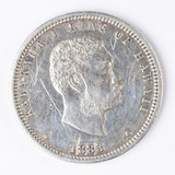 1883 Hawaii Silver Quarter, Kalakaua I King of Hawaii