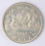 1963 Canada 80% Silver Dollar