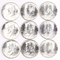 9 - 1964-P Kennedy Silver Half Dollars