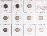 9 George V Silver 10 Cents, 1 Edward VII Silver 5 Cents, 1872 Victoria Silver 5 Cents &