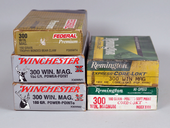Assorted 300 Win. Mag Ammo, 100 Rds.