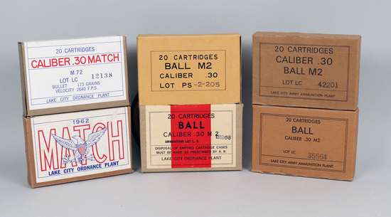 Assorted Cal. 30 & Ball Ammo - Lake City Army Plant