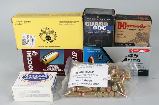 .45 Auto/ACP Ammo, Assorted - 260 Rds.