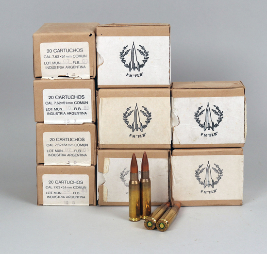 "Vintage 7.62 x 51 mm ""COMUN"" Ammo - Argentina, 200 Rds."