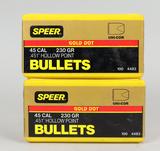 Speer Gold Dot .45 230 Gr. Hollow Point Bullets
