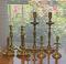 5 Pair of Brass Candlesticks
