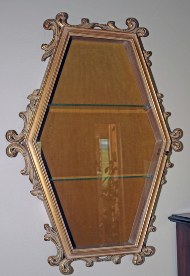 Gilded Wall Display Case