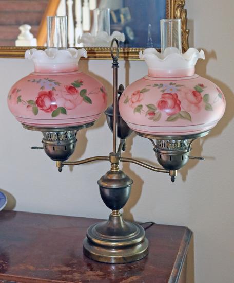 Vintage Dual Light Table Lamp