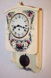 Painted - Decorated Wall Clock