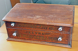 Antique National Pin Co.  Needle Display Cabinet