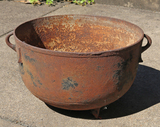 Large Cast Iron Kettle - 20 Gallon Size