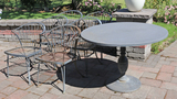 Patio Table & 6 Iron Chairs