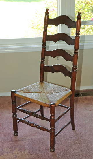Ladder Backed Chair w/ Caned Seat