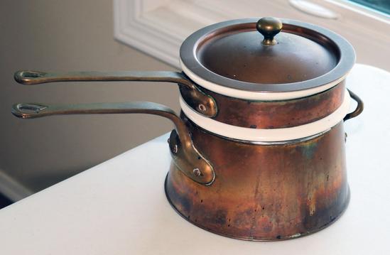 Bazar Francais NY 666 Copper Double Boiler