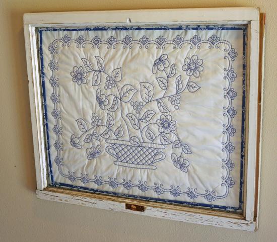 Window w/ Quilted Basket Design