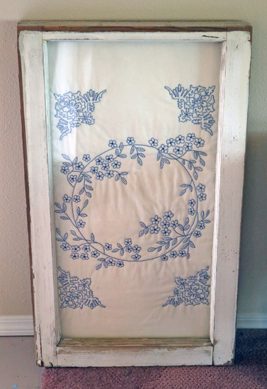 Old Window w/ Quilted Insert