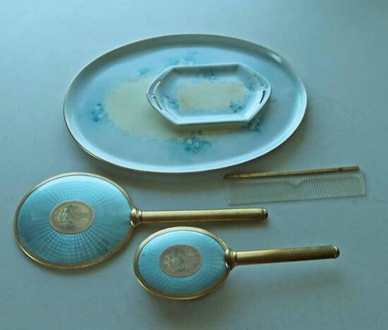 Vintage Vanity Items & Austria Trays