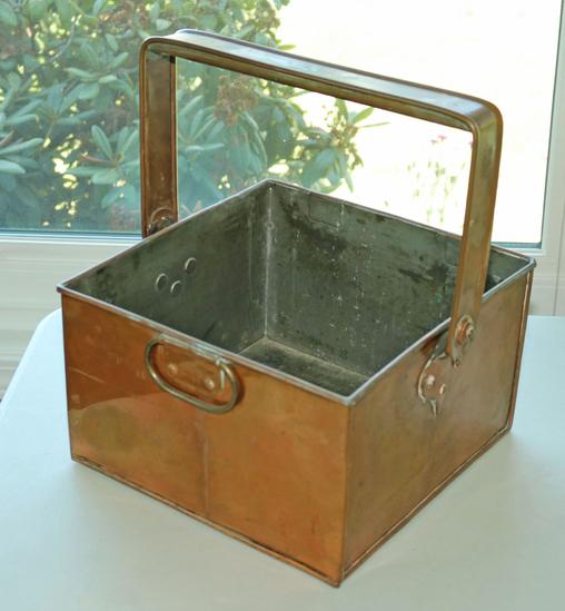 Copper Finish Box w/ Handle