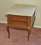 Side Table w/ Marble Top