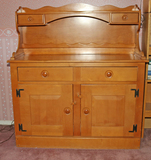 Maple Finished Sideboard Cabinet