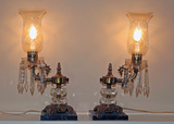 Lighted Lusters w/ Marble Bases