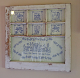 Old Window w/ Quilted Inserts