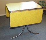Vintage Formica Top Chrome Drop Leaf Table