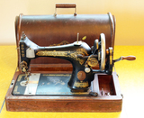 Antique Hand Crank Singer Sewing Machine with Case, Serial #G6240907
