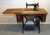 Antique Singer Treadle Sewing Machine, circa late 1890's