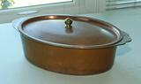 Legion Utensils Vintage Copper Clad Oval Pan