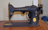 Old Singer Sewing Machine w/ Cabinet