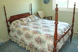 4 Poster Bed w/ Bedding