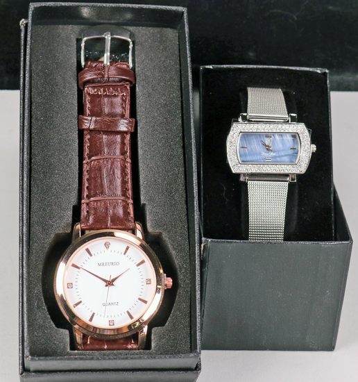 Charity Item - His & Hers Quartz Watches