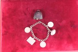 Bracelet w/Sterling Charms & Sterling Bunny Bell Pendant