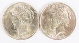 2 - 1923-P Peace Silver Dollars