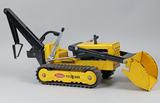 Tonka Pressed Steel Yellow Trencher/Backhoe
