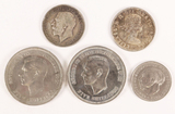 1916 Silver George V One Florin (2 Shilling), Silver Elizabeth II Canada 50 Cents,